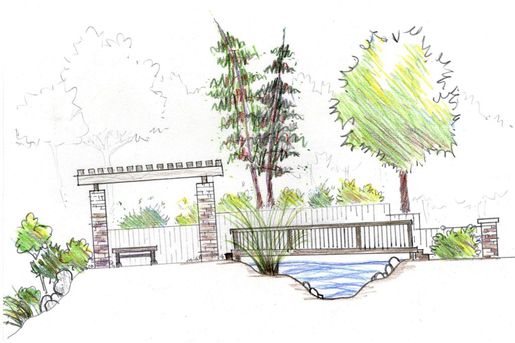 Sketchbook journal thoughts on landscape architecture for Garden design sketches